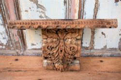 Shelf made from a Architectural Teak Corbel